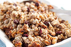 Bread Stuffing with Sausage, Dried Cherries, and Pecans