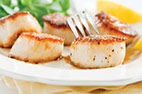 Pan-Seared Scallops with Wilted Spinach, Watercress, and Orange Salad