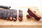 Memphis-Style Barbecued Spareribs on a Charcoal Grill