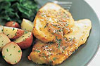 Sauteed Chicken Cutlets with Mustard-Cider Sauce (Chicken Paillard)
