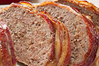 Bacon-Wrapped Meatloaf with Brown Sugar - Ketchup Glaze