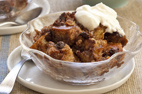 Chocolate-Hazelnut Bread Pudding