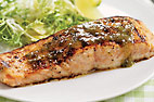 Sweet and Saucy Charcoal-Grilled Salmon with Lime-Jalapeno Glaze