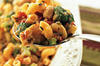 Skillet Chicken with Broccoli, Ziti, and Asiago Cheese