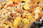 Rice Salad with Oranges, Olives, and Almonds