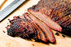 Barbecued Beef Brisket For a Charcoal Grill