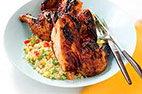 Grill-Roasted Cornish Game Hens on a Charcoal Grill