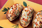 Twice-Baked Potatoes with Cheddar Cheese and Scallions