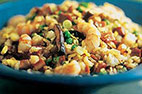 Fried Rice with Shrimp, Pork, and Shiitakes