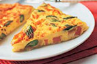 Asparagus, Ham, and Gruyere Frittata