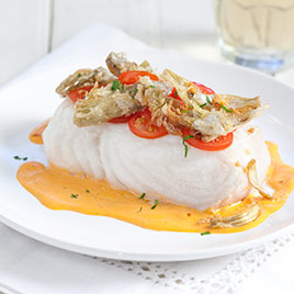 ... Types--- Cooking: Poached Fish Fillets with Sherry-Tomato Vinaigrette