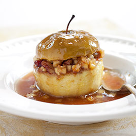 Best Baked Apples with Dried Figs and Macadamia Nuts