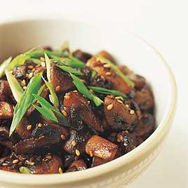Sauteed Mushrooms with Sesame and Ginger