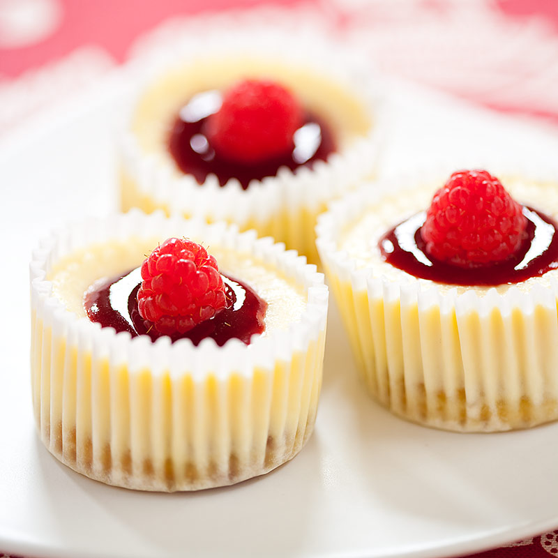 Raspberry Mini Cheesecakes