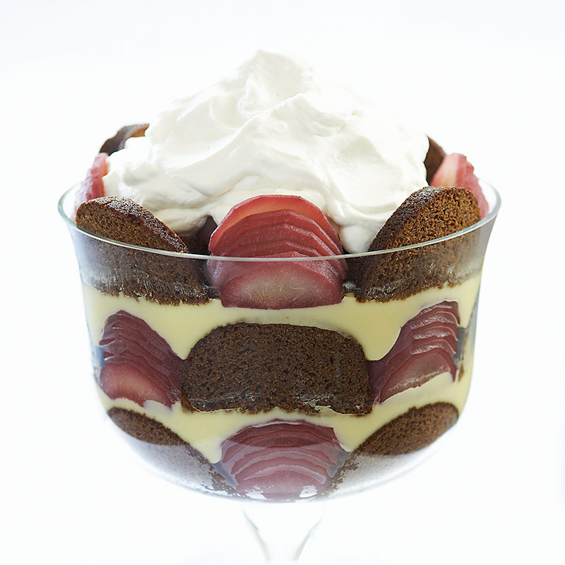 Gingerbread-Pear Trifle