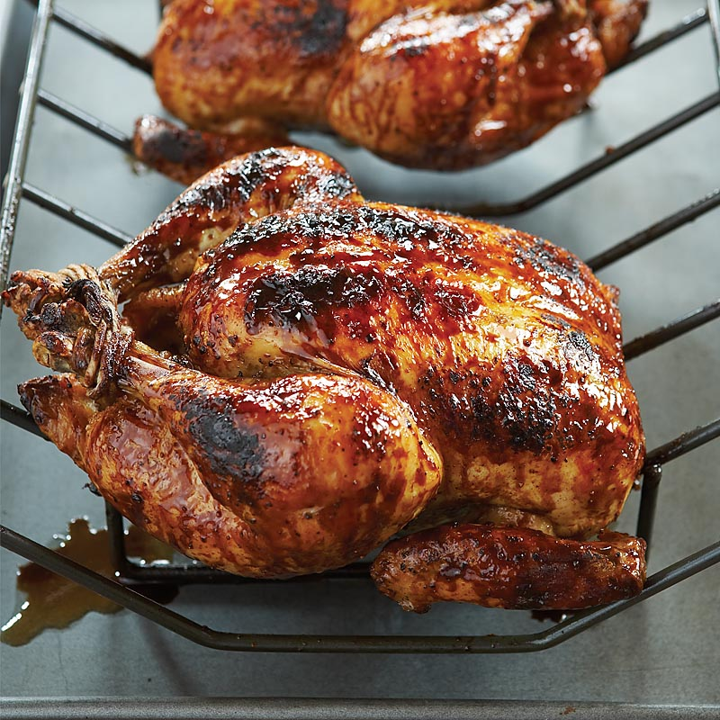 Brown Sugar-Balsamic Glazed Grill-Roasted Chicken