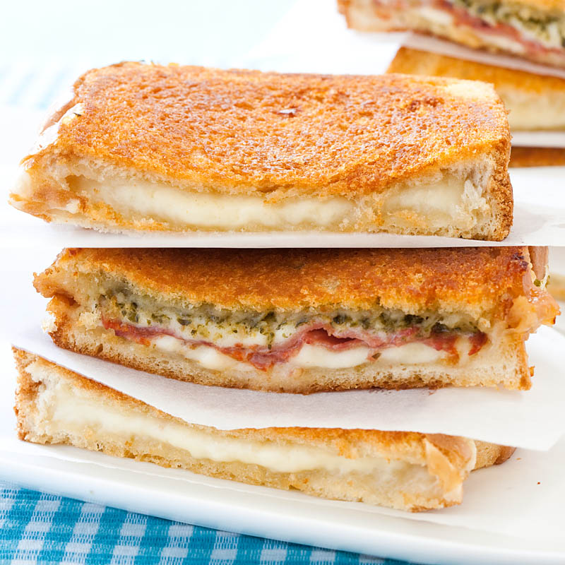 Pesto-Capicola Grilled Cheese