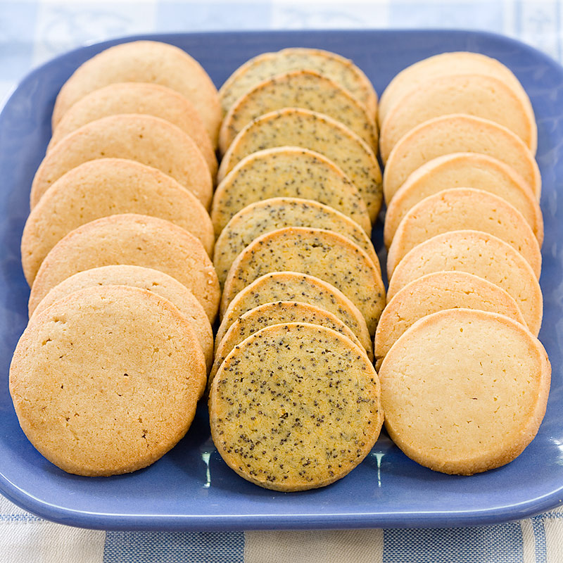 Orange-Poppy Seed Slice-and-Bake Cookies