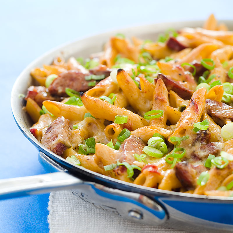 Spicy Pasta Bake with Sausage